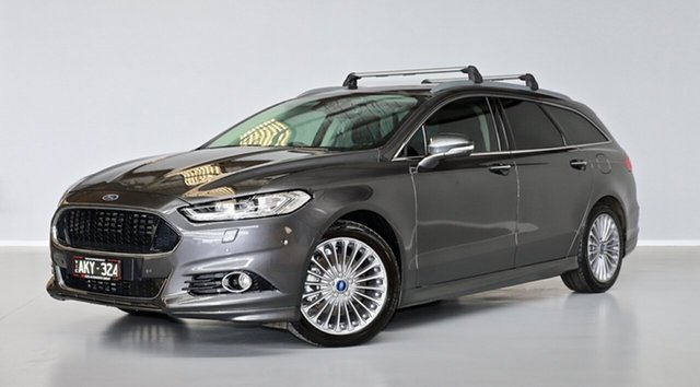 Used Ford Mondeo MD Titanium Thomastown, 2016 Ford Mondeo MD Titanium Grey 6 Speed Sports Automatic Dual Clutch Wagon