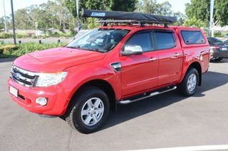 2014 Ford Ranger PX XLT Double Cab True Red 6 Speed Sports Automatic Utility.