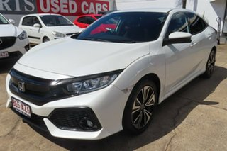 2017 Honda Civic MY17 VTi-L White Orchid Continuous Variable Hatchback