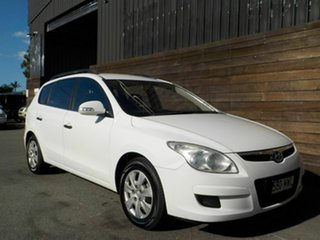2010 Hyundai i30 FD MY10 SX cw Wagon White 4 Speed Automatic Wagon.
