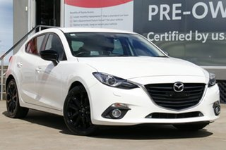 2015 Mazda 3 BM SP25 GT White 6 Speed Automatic Hatchback.