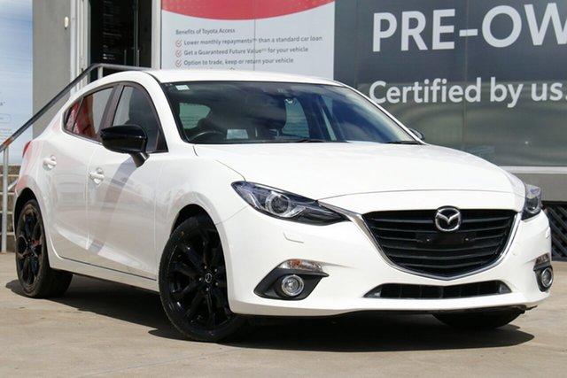 Pre-Owned Mazda 3 BM SP25 GT Guildford, 2015 Mazda 3 BM SP25 GT White 6 Speed Automatic Hatchback