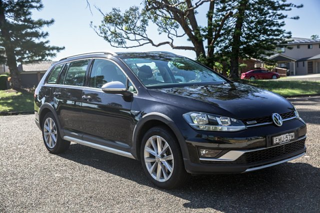 Used Volkswagen Golf 7.5 MY18 Alltrack DSG 4MOTION 132TSI Port Macquarie, 2017 Volkswagen Golf 7.5 MY18 Alltrack DSG 4MOTION 132TSI Black 6 Speed Sports Automatic Dual Clutch
