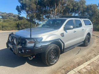 2017 Ford Ranger PX MkII 2018.00MY XLS Double Cab Silver 6 Speed Sports Automatic Utility.