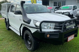 2015 Toyota Hilux GUN126R SR Double Cab White 6 Speed Sports Automatic Cab Chassis.