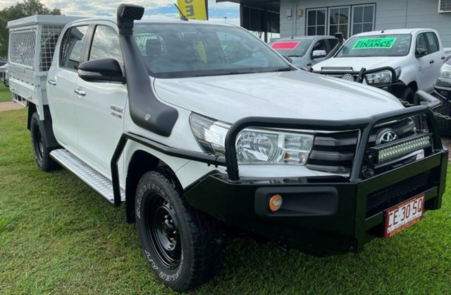 Used Toyota Hilux GUN126R SR Double Cab Winnellie, 2015 Toyota Hilux GUN126R SR Double Cab White 6 Speed Sports Automatic Cab Chassis