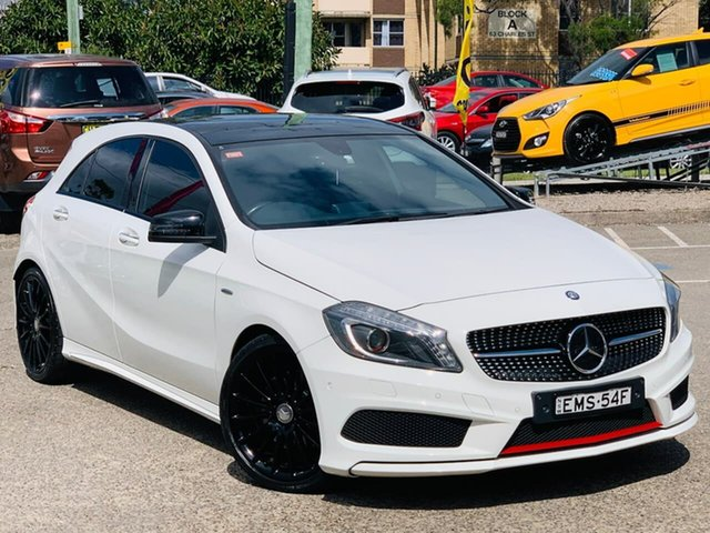 Used Mercedes-Benz A-Class W176 805+055MY A250 D-CT Sport Liverpool, 2015 Mercedes-Benz A-Class W176 805+055MY A250 D-CT Sport White 7 Speed Sports Automatic Dual Clutch
