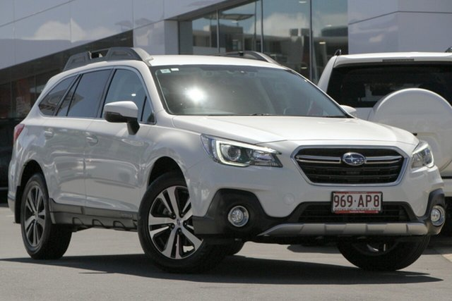 Pre-Owned Subaru Outback B6A MY18 2.5i CVT AWD Woolloongabba, 2018 Subaru Outback B6A MY18 2.5i CVT AWD Crystal White 7 Speed Constant Variable Wagon