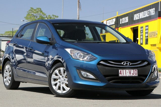 Used Hyundai i30 GD2 Active Rocklea, 2014 Hyundai i30 GD2 Active Dazzling Blue 6 Speed Sports Automatic Hatchback