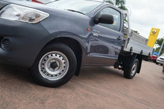 2013 Toyota Hilux TGN16R MY12 Workmate Grey 5 Speed Manual Cab Chassis.