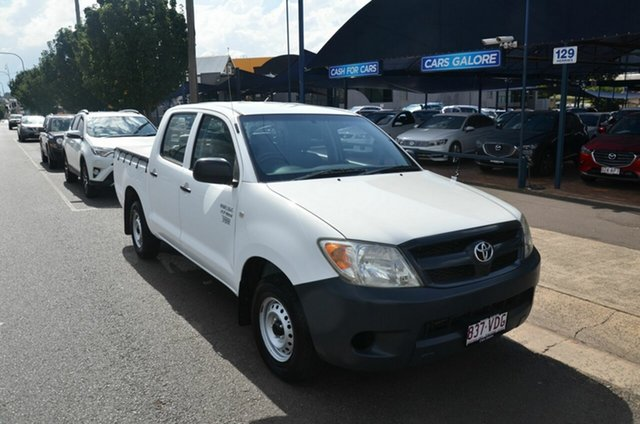 Used Toyota Hilux TGN16R 06 Upgrade Workmate Toowoomba, 2007 Toyota Hilux TGN16R 06 Upgrade Workmate White 5 Speed Manual Dual Cab Pick-up