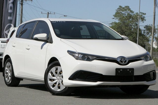 Used Toyota Corolla ZRE182R Ascent S-CVT Rocklea, 2016 Toyota Corolla ZRE182R Ascent S-CVT Glacier White 7 Speed Constant Variable Hatchback