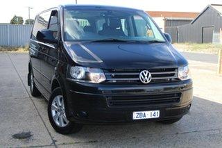 2012 Volkswagen Multivan T5 MY12 Comfortline TDI340 Black 7 Speed Auto Direct Shift Wagon.