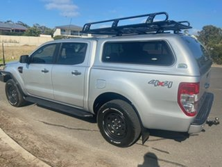 2017 Ford Ranger PX MkII 2018.00MY XLS Double Cab Silver 6 Speed Sports Automatic Utility