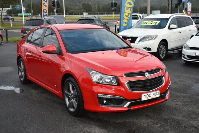 Used Holden Cruze JH Series II MY16 SRI Z-Series Gosford, 2016 Holden Cruze JH Series II MY16 SRI Z-Series Red 6 Speed Sports Automatic Sedan