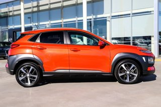 2017 Hyundai Kona OS MY18 Highlander 2WD Orange 6 Speed Sports Automatic Wagon.