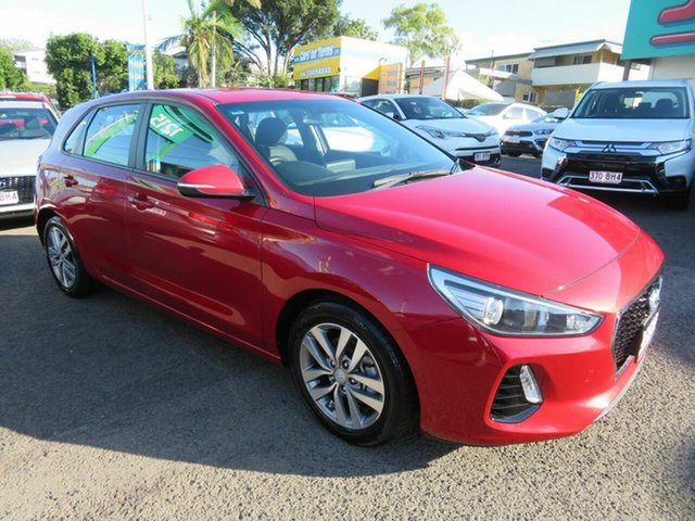 Used Hyundai i30 PD2 MY19 Active Mount Gravatt, 2019 Hyundai i30 PD2 MY19 Active Red 6 Speed Sports Automatic Hatchback