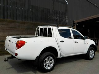 2008 Mitsubishi Triton ML MY08 GLX Double Cab 4x2 White 5 Speed Manual Utility