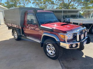 2014 Toyota Landcruiser VDJ79R MY13 GXL Merlot Red 5 Speed Manual Cab Chassis.