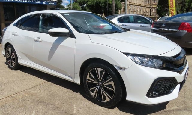 Used Honda Civic MY17 VTi-L Toowoomba, 2017 Honda Civic MY17 VTi-L White Orchid Continuous Variable Hatchback