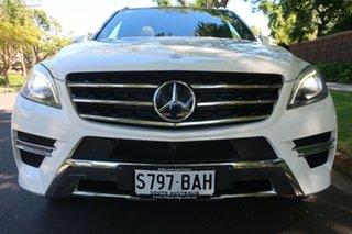 2014 Mercedes-Benz M-Class W166 ML400 7G-Tronic + White 7 Speed Sports Automatic Wagon.