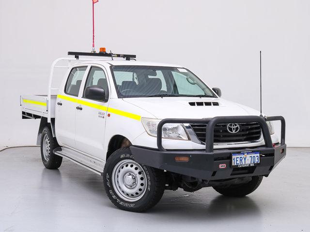 Used Toyota Hilux KUN26R MY14 SR (4x4), 2015 Toyota Hilux KUN26R MY14 SR (4x4) White 5 Speed Manual Dual Cab Pick-up