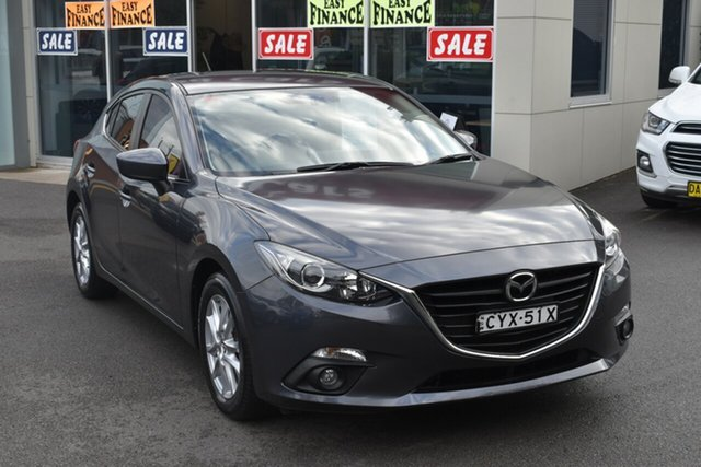 Used Mazda 3 BM5478 Touring SKYACTIV-Drive Gosford, 2015 Mazda 3 BM5478 Touring SKYACTIV-Drive Grey 6 Speed Sports Automatic Hatchback