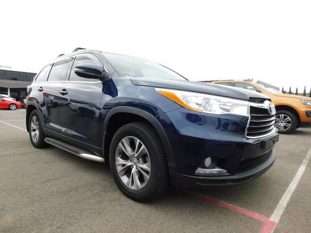 Pre-Owned Toyota Kluger GSU55R GXL AWD Wonthaggi, 2015 Toyota Kluger GSU55R GXL AWD Blue 6 Speed Sports Automatic Wagon