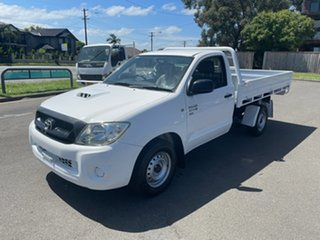 2009 Toyota Hilux KUN16R 09 Upgrade SR White 5 Speed Manual Cab Chassis