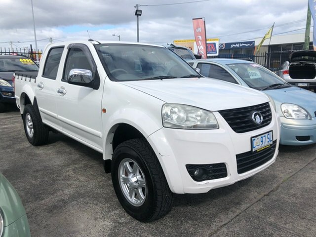 Used Great Wall V240 K2 MY12 4x2 Derwent Park, 2012 Great Wall V240 K2 MY12 4x2 White 5 Speed Manual Utility