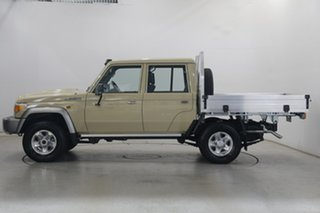 2020 Toyota Landcruiser VDJ79R GXL Double Cab Beige 5 Speed Manual Cab Chassis.