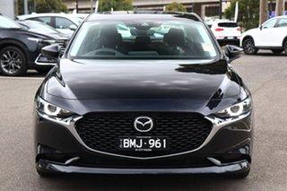 2020 Mazda 3 BP2SLA G25 SKYACTIV-Drive Astina Jet Black 6 Speed Sports Automatic Sedan.