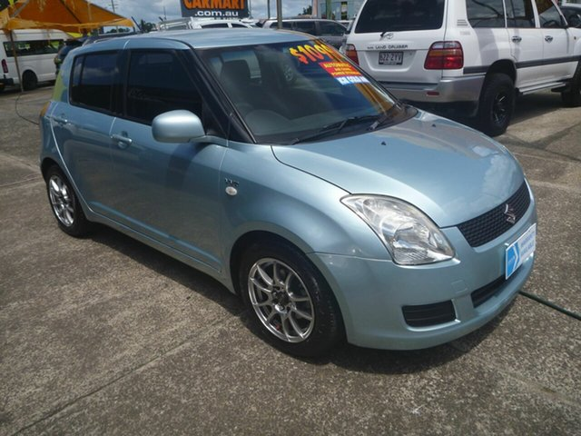 Used Suzuki Swift RS415 GLX Morayfield, 2008 Suzuki Swift RS415 GLX Blue 4 Speed Automatic Hatchback