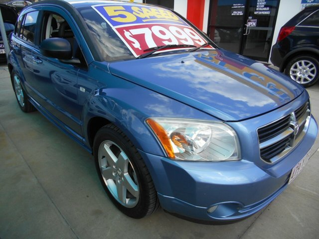 Used Dodge Caliber PM R/T Springwood, 2007 Dodge Caliber PM R/T Blue 5 Speed Manual Hatchback