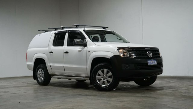 Used Volkswagen Amarok 2H MY14 TDI420 4Motion Perm Welshpool, 2014 Volkswagen Amarok 2H MY14 TDI420 4Motion Perm White 8 Speed Automatic Utility