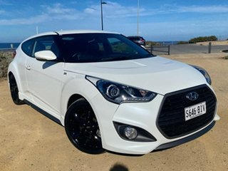 2015 Hyundai Veloster FS4 Series II SR Coupe Turbo White 6 Speed Manual Hatchback.
