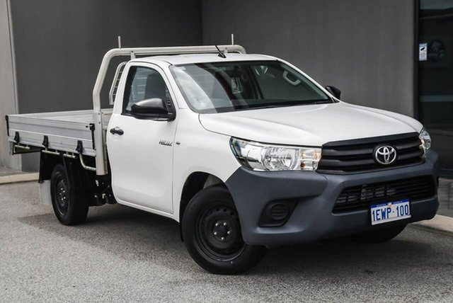 Used Toyota Hilux TGN121R Workmate 4x2 Osborne Park, 2015 Toyota Hilux TGN121R Workmate 4x2 White 6 Speed Sports Automatic Cab Chassis