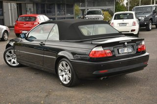 2006 BMW 3 Series E46 MY05 325Ci Steptronic Black 5 Speed Sports Automatic Convertible.