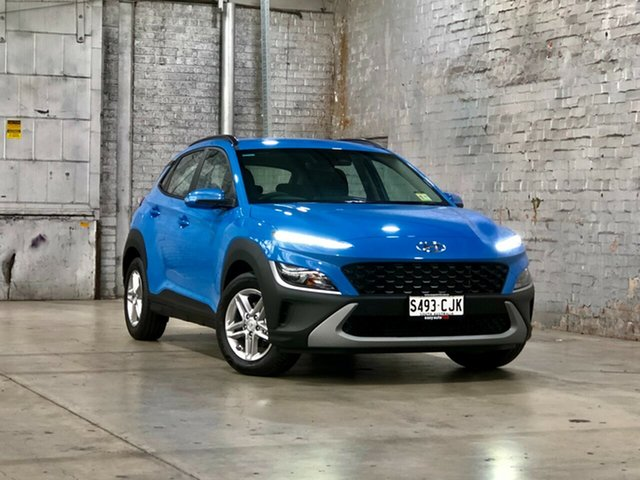 Used Hyundai Kona Os.v4 MY21 2WD Mile End South, 2020 Hyundai Kona Os.v4 MY21 2WD Blue 8 Speed Constant Variable Wagon