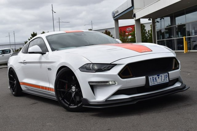 Used Ford Mustang FN 2020MY GT Essendon Fields, 2020 Ford Mustang FN 2020MY GT Oxford White 10 Speed Sports Automatic Fastback