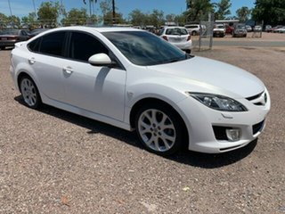 2009 Mazda 6 Luxury Sports White 4 Speed Auto Active Select Hatchback.