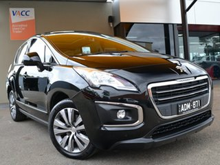 2015 Peugeot 3008 T8 MY15 Active SUV Black 6 Speed Sports Automatic Hatchback.