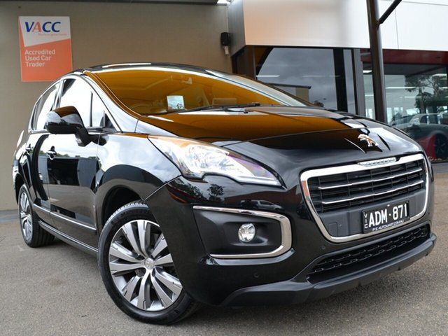Used Peugeot 3008 T8 MY15 Active SUV Fawkner, 2015 Peugeot 3008 T8 MY15 Active SUV Black 6 Speed Sports Automatic Hatchback