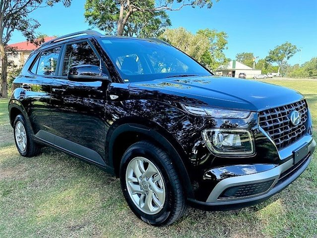 New Hyundai Venue QX.V3 MY21 Mount Gravatt, 2021 Hyundai Venue QX.V3 MY21 Phantom Black 6 Speed Automatic Wagon