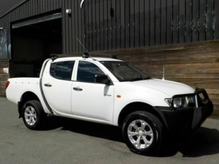 2008 Mitsubishi Triton ML MY08 GLX Double Cab 4x2 White 5 Speed Manual Utility.