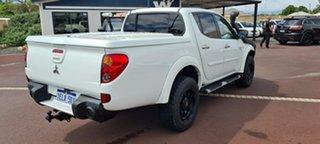 2012 Mitsubishi Triton MN MY12 GLX-R Double Cab White 5 Speed Sports Automatic Utility