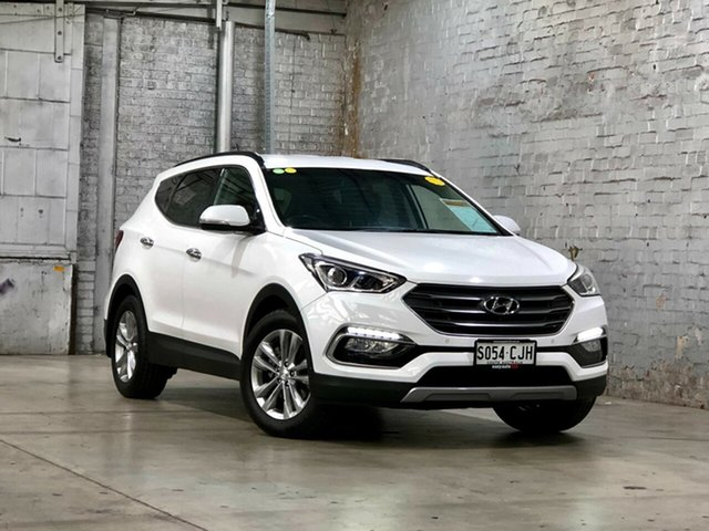 Used Hyundai Santa Fe DM3 MY16 Elite Mile End South, 2016 Hyundai Santa Fe DM3 MY16 Elite White 6 Speed Sports Automatic Wagon
