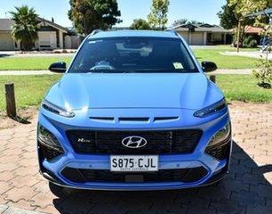 2020 Hyundai Kona Os.v4 MY21 N-Line D-CT AWD Premium Surfy Blue 7 Speed Sports Automatic Dual Clutch.
