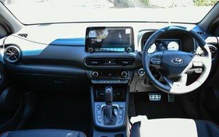 2020 Hyundai Kona Os.v4 MY21 N-Line D-CT AWD Premium Surfy Blue 7 Speed Sports Automatic Dual Clutch