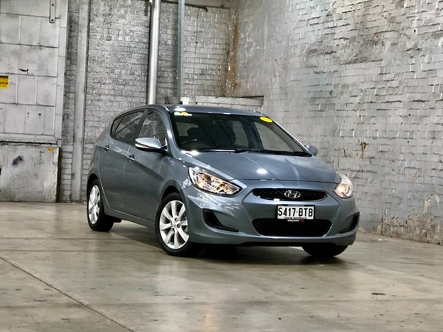 Used Hyundai Accent RB6 MY18 Sport Mile End South, 2017 Hyundai Accent RB6 MY18 Sport Silver 6 Speed Sports Automatic Hatchback